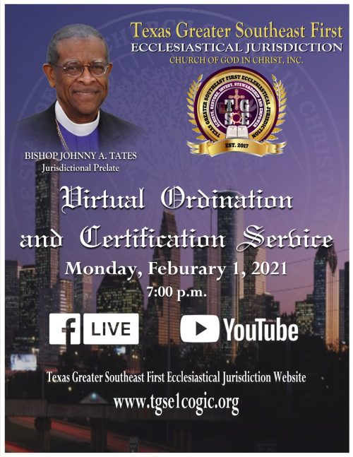 Virtual Ordination and Certification Service