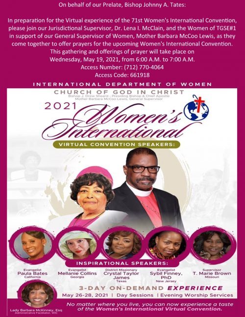 Call to Prayer for the 71st WIC