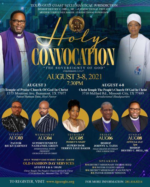 Bishop Tates - Guest Speaker, Aug 6, 2021