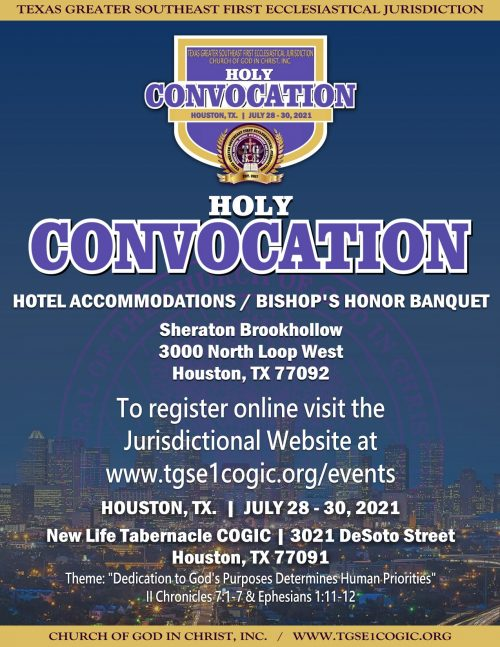 Holy Convocation 2021-Hotel Accommodations